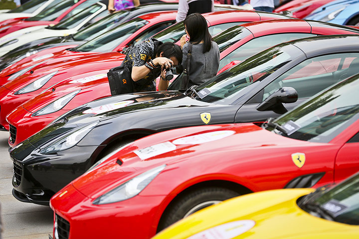 24 hours in pictures: Ferrari cars festival, China