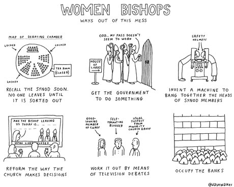 David Walker cartoon on women bishops