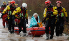 Diana Mallows, 90, rescued from flooding near Taunton
