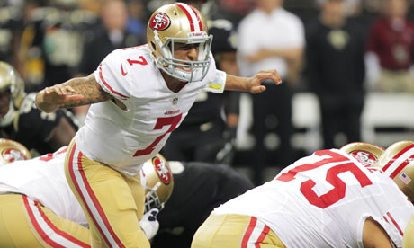 Colin Kaepernick steers San Francisco 49ers past New Orleans Saints