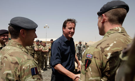 David Cameron in Afghanistan in 2011