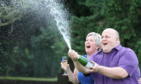 Adrian and Gillian Bayford, lottery winners
