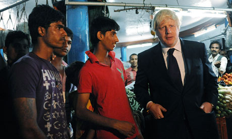 Boris Johnson in Hyderabad