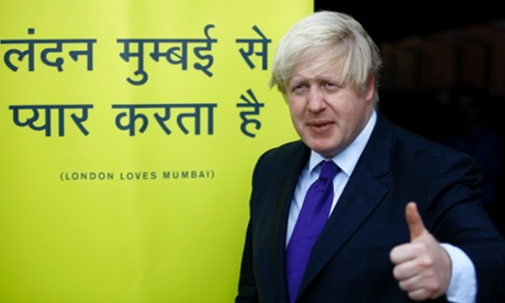 Boris Johnson in India on 29 November 2012.