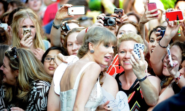 US singer Taylor Swift meets fans on her arrival for the 26th ARIA Awards at the Sydney Entertainment Centre, in Sydney, Australia. The Australian Recording Industry Association Music Awards is an annual series of awards nights celebrating the Australian music industry.
