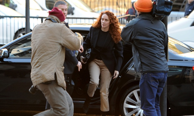 Once more a focus of attention, Rebekah Brooks arrives at Westminster Magistrates Court in London where she is facing charges linked to alleged bribery of public officials.