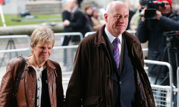 Sally and Bob Dowler, the parents of murdered schoolgirl Milly Dowler, arrive at the QEII Conference Centre in London to attend the release of the Leveson report on media practices.