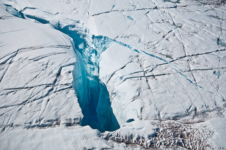 Polar Ice Sheets: Greenland ice sheet melting stages