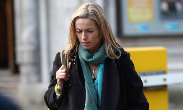 Kate McCann was among the early arrivals for Lord Justice Leveson's announcement.