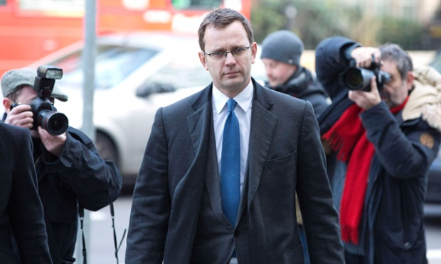 Former News of the World Editor Andy Coulson arrives at Westminster Magistrates Court where he, along with his former colleague Rebekah Brooks, is also facing charges linked to alleged bribery of public officials.