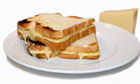 Toasted cheddar cheese sandwich
