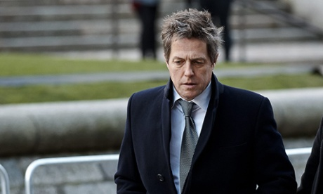 Hugh Grant arrives at the Queen Elizabeth II conference centre.