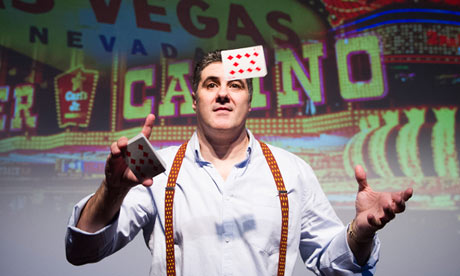 Steve Truglia in The Card Shark Show at the Mayfair Hotel Theatre