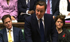 David Cameron delivers a statement to the House of Commons following publication of Leveson report