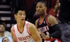 Jeremy Lin, Houston Rockets vs Portland Trail Blazers