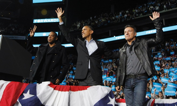 Obama Jay-Z and Bruce Springsteen