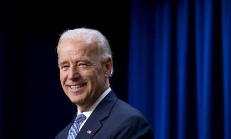 US Vice President Joe Biden speaks prior