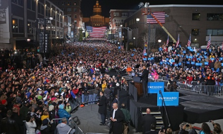 Barack Obama final rally in Iowa