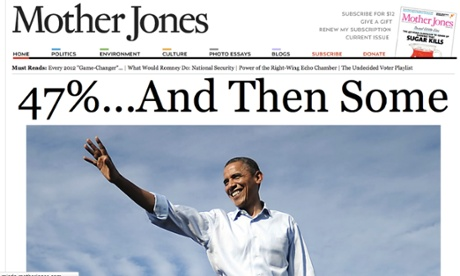 Mother Jones announces Obama's victory.