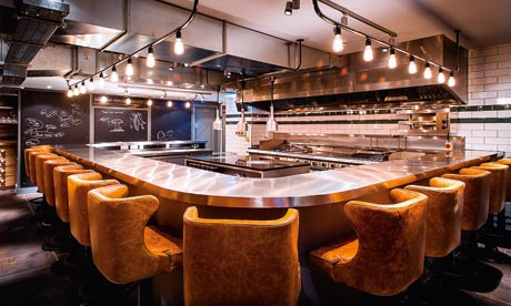 restaurant kitchen table london w1 life and style the guardian. beautiful ideas. Home Design Ideas