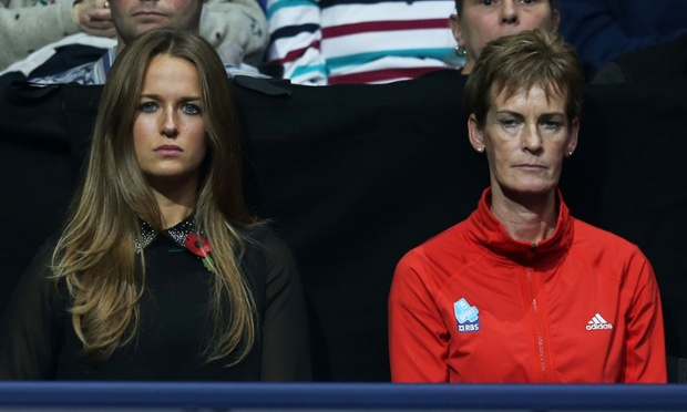 More tennis? Kim Sears the girlfriend of Andy Murray next to Judy Murray during the men's singles match against Novak Djokovic of Serbia on day three of the ATP World Tour Finals.