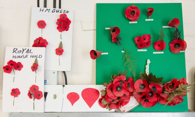 Various designs of spray for members of the Royal family.  The Poppy Factory also helps wounded veterans and dependents of service personnel find employment with companies across the UK.
