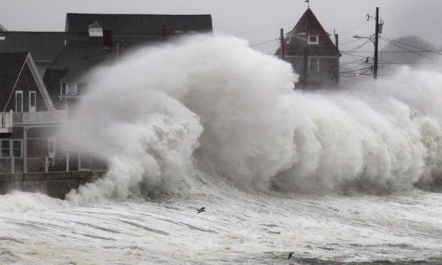 No lull in Hull: Waves crash into a seawall and buildings along the coast in Hull, Mass. A high-wind warning is in effect in the state with gusts of up to 60 mph expected in some costal areas, and 50 mph gusts expected for Boston and western Massachusetts.