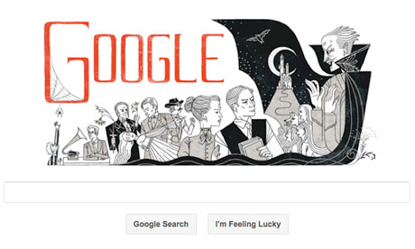 Bram Stoker books celebrated in Google doodle