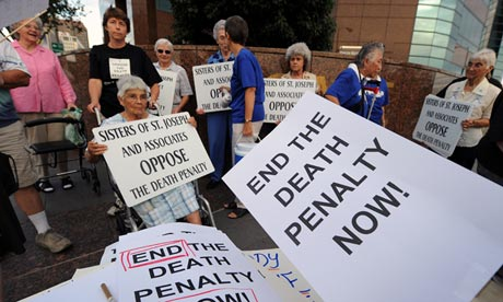 Anti-death penalty campaigners in Los Angeles in 2010