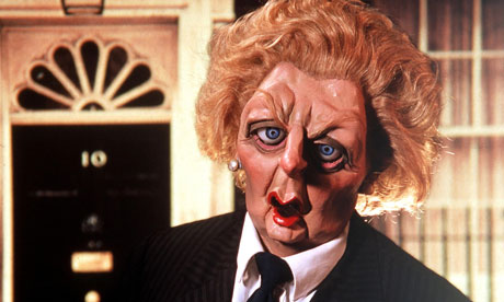 Margaret Thatcher, as depicted by the satirical puppet show Spitting Image