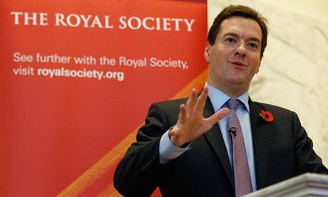 George Osborne speaks at the Royal Society