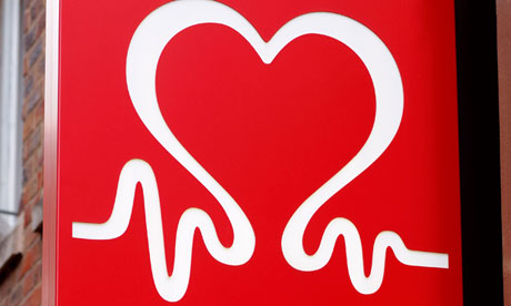 British Heart Foundation sign