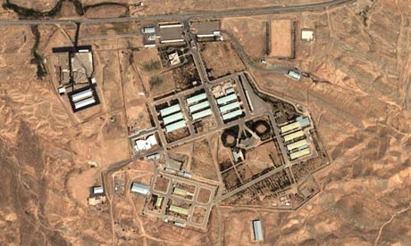 A satellite image of Iran's military complex at Parchin