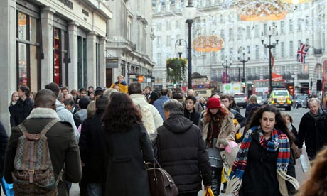 west end christmas shopping boom