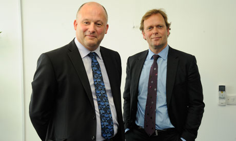 Chief executives Julian Wain (left) and Simon Downing (right).