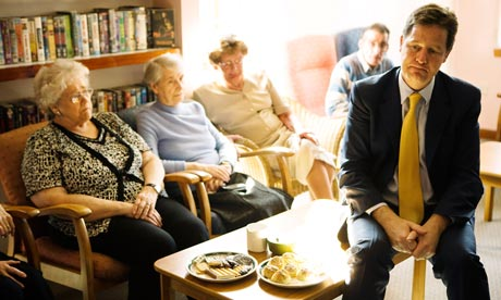 Nick Clegg with sheltered housing residents