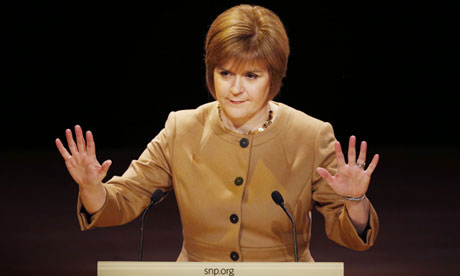 Scotland's deputy first minister, Nicola Sturgeon