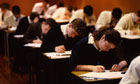 Pupils sit an exam