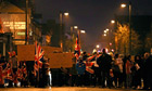 Demonstrators block Donegall Road in south Belfast
