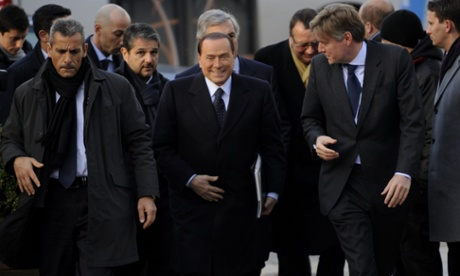 Former Italian Prime Minister Silvio Berlusconi has arrived at the EU Headquarters today.