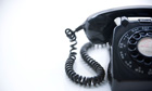 Black Rotary Phone