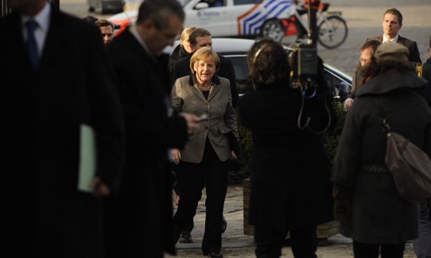 Leaders arrive at the EU Headquarters for a European People's Party enlarged summit ahead of the European Council later in the day.