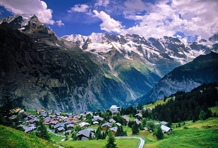 Murren Switzerland  city photo : Mürren: a century of downhill skiing | Travel | The Guardian