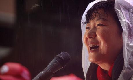 South Korea's presidential candidate Park Geun-hye