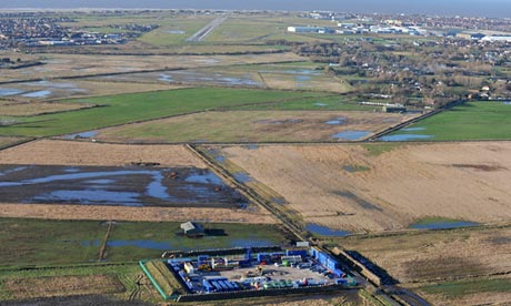 Cuadrilla's exploratory fracking site near Blackpool.
