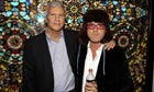 Larry Gagosian and Damien Hirst at one of his exhibitions at the Gagosian gallery in Beverly Hills
