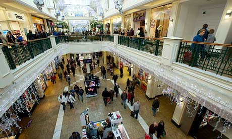 Christmas shoppers at the Meadowhall shopping centre in Sheffield