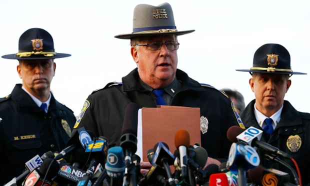Connecticut state police lieutenant Paul Vance briefs the media on the details from the Newtown attack