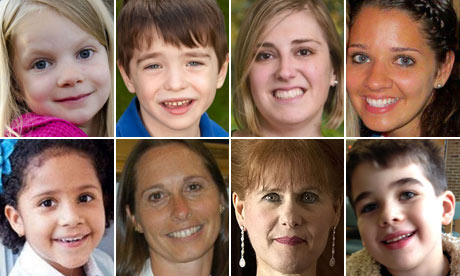 Teachers and pupils of Sandy Hook elementary school victims of the shooting in Newtown, Connecticut