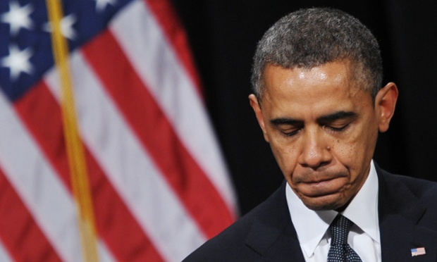 President Obama speaks during a memorial service for the victims of the Sandy Hook Elementary School shooting